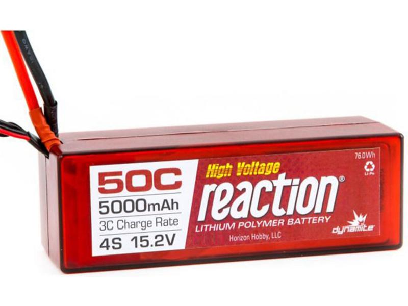 LiPol Reaction Car 15.2V HV 5000mAh 50C TRA