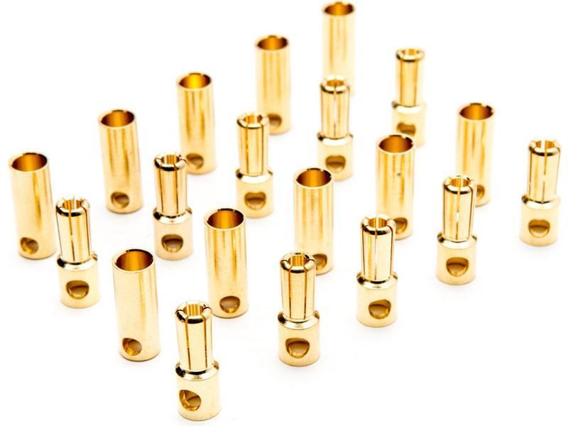 Zlacený konektor 5.5mm pár (10)