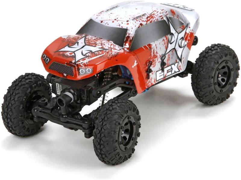 Náhled produktu - 1:24 ECX Temper Crawler RTR červeno bílý