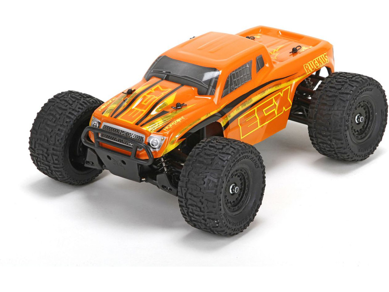 Náhled produktu - 1:18 ECX Ruckus Monster Truck 4WD RTR (oranžový)