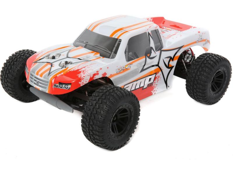 Náhled produktu - 1:10 AMP Monster Truck 2WD RTR - bílá/oranžová