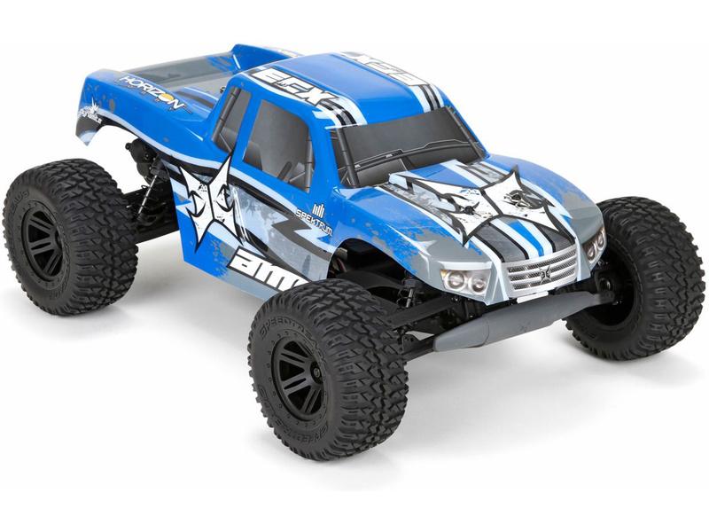 Náhled produktu - 1:10 ECX AMP Monster Truck 2WD Kit RTR