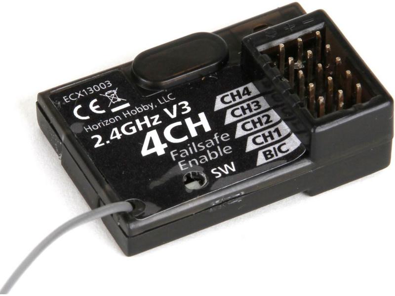 Náhled produktu - ECX - Přijímač 2.4GHz 2-kan. voděodolný V3