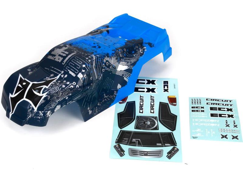Náhled produktu - ECX Circuit - Karosérie modrá/stříbrná