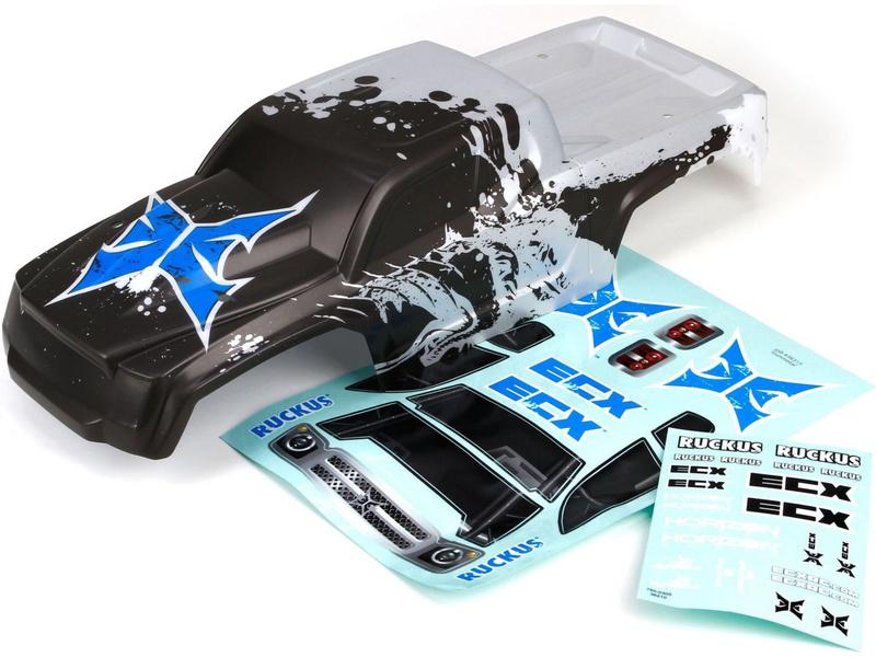 Náhled produktu - ECX Ruckus - Karosérie stříbrná/černá