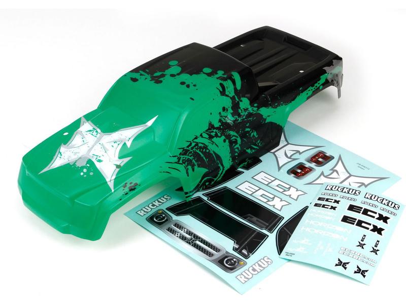 Náhled produktu - ECX Ruckus - Karosérie zelená/černá