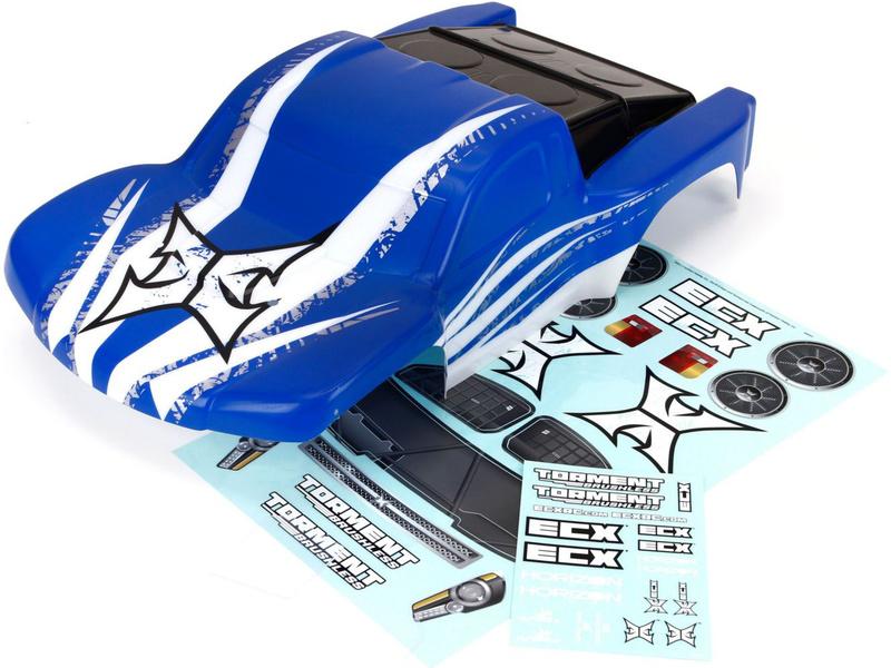 Náhled produktu - ECX Torment BL - Karosérie modrá/bílá