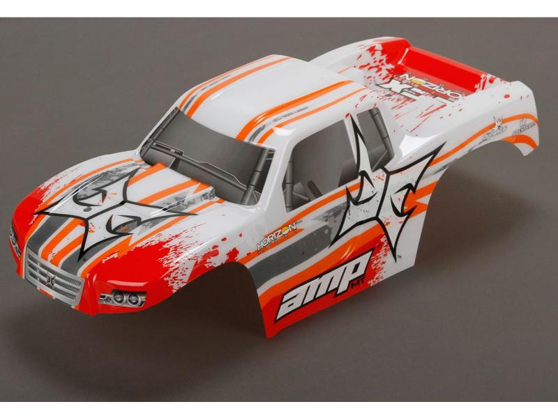 ECX AMP MT - Karosérie bílá/oranžová
