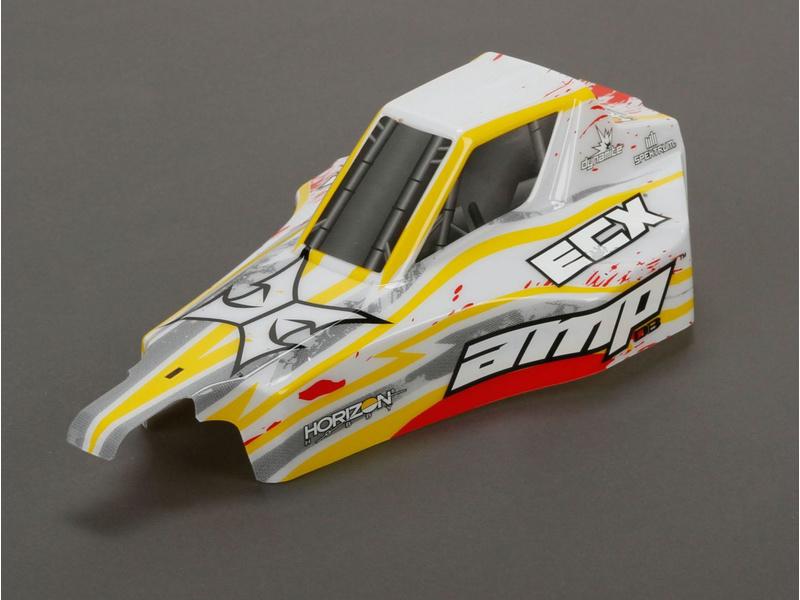 Náhled produktu - ECX AMP DB - Karosérie bílá/červená