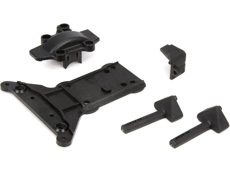 Náhled produktu - ECX 1:10 4WD - Kryt převodovky, ochranná deska, držák aku
