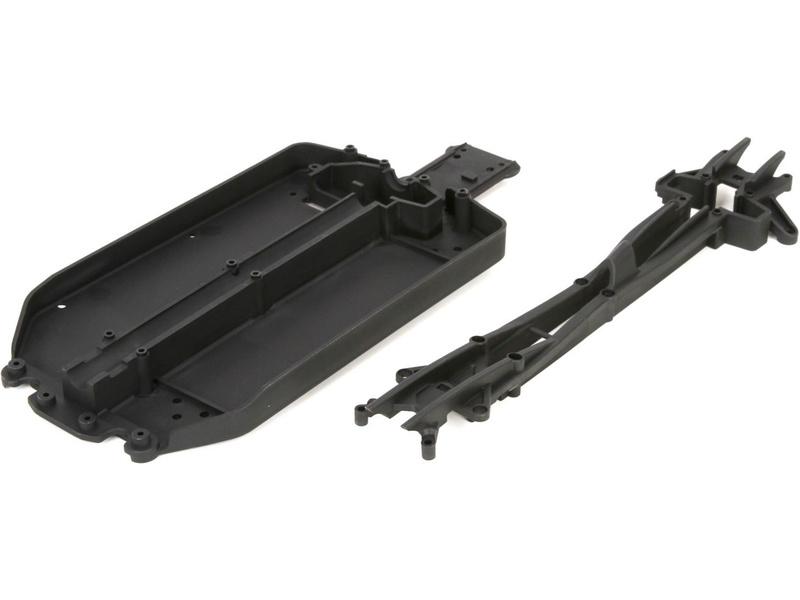 Náhled produktu - ECX 1:10 4WD - Deska šasim, horní díl krátký (1)