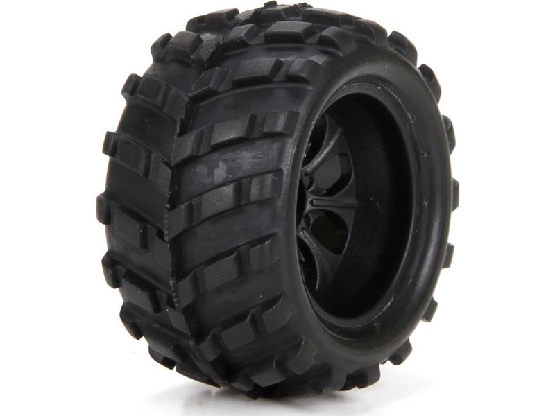 Náhled produktu - ECX 1:24 Ruckus - Kola přední / zadní s pneu (2)