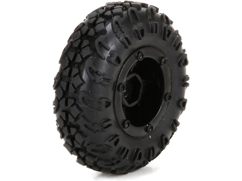 ECX 1:24 Temper - Kolo přední / zadní s pneu (4)