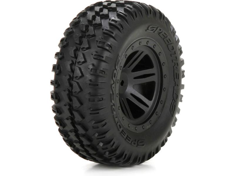Náhled produktu - ECX 1:10 AMP DB - Disk kola s pneu přední (2)