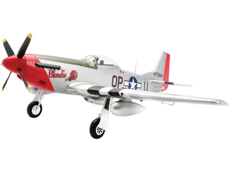 Náhled produktu - P-51D Mustang 1.2m BNF Basic