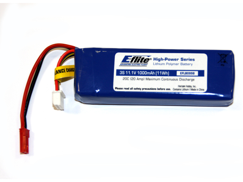 Náhled produktu - Blade SR: LiPol 11.1V 1000mAh 3čl. 20C JST/Bal