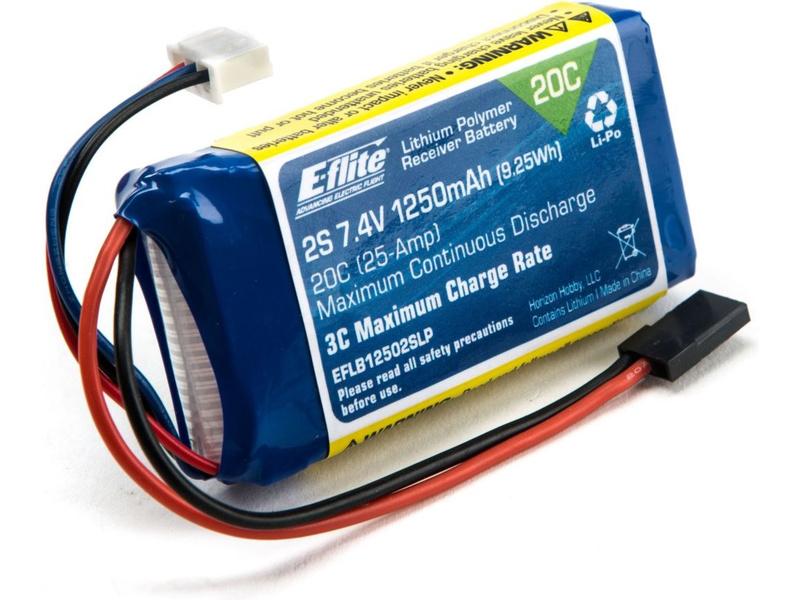 Náhled produktu - LiPol 7.4V 1250mAh 2S Rx Pack