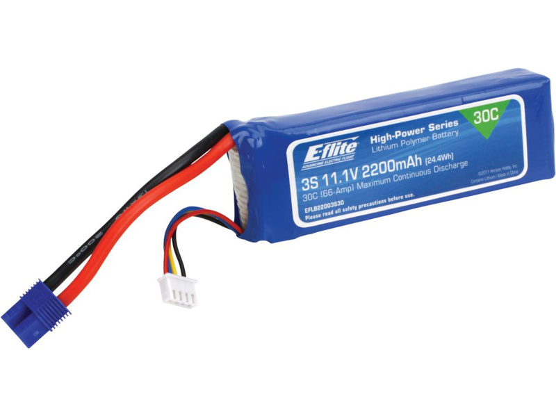 LiPol 11.1V 2200mAh 3čl 30C EC3