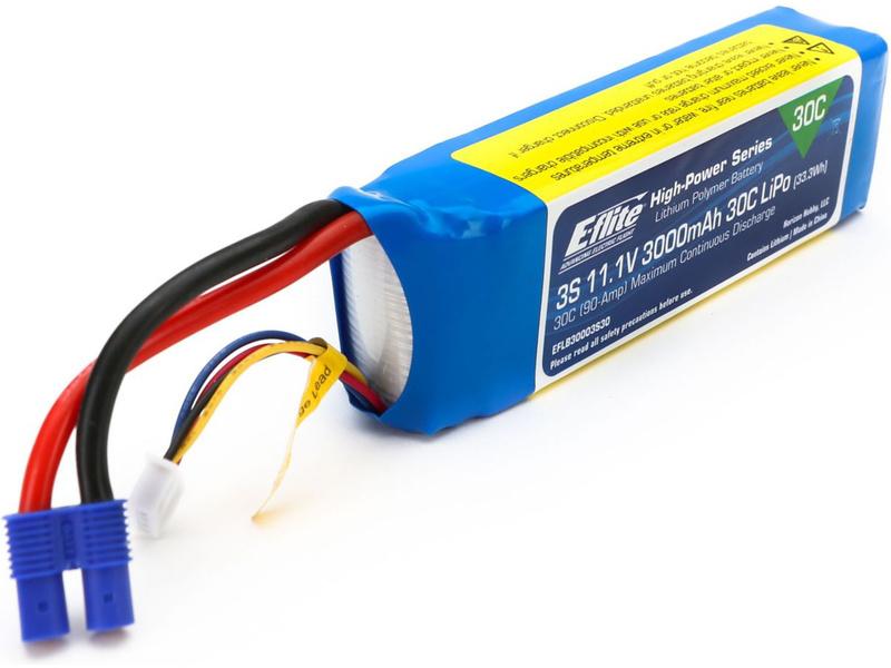 E-flite LiPol 11.1V 3000mAh 30C EC3