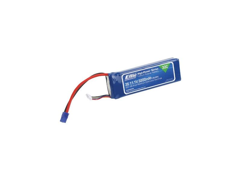 LiPol 11.1V 3200mAh 3čl 30C EC3
