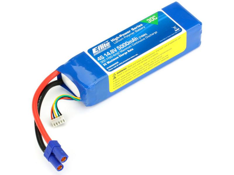 Náhled produktu - E-Flite LiPol 14.8V 5000mAh 30C EC5