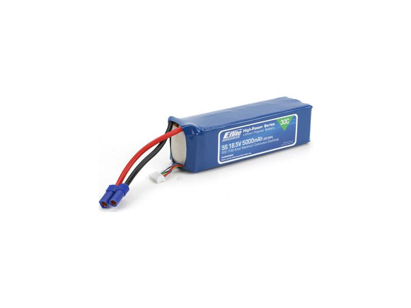 LiPol 18.5V 5000mAh 5čl 30C EC5