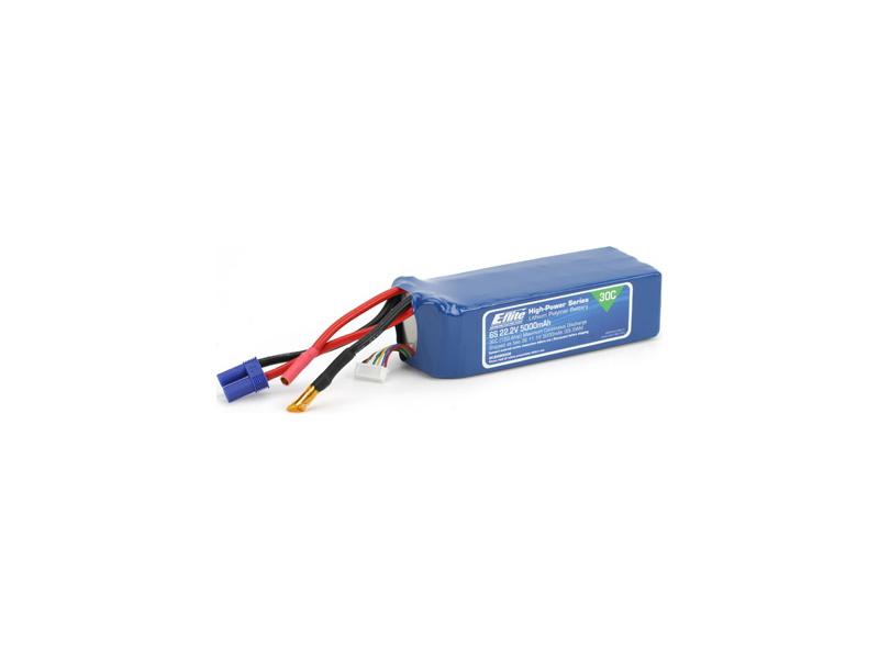 LiPol 22.2V 5000mAh 6čl 30C EC5