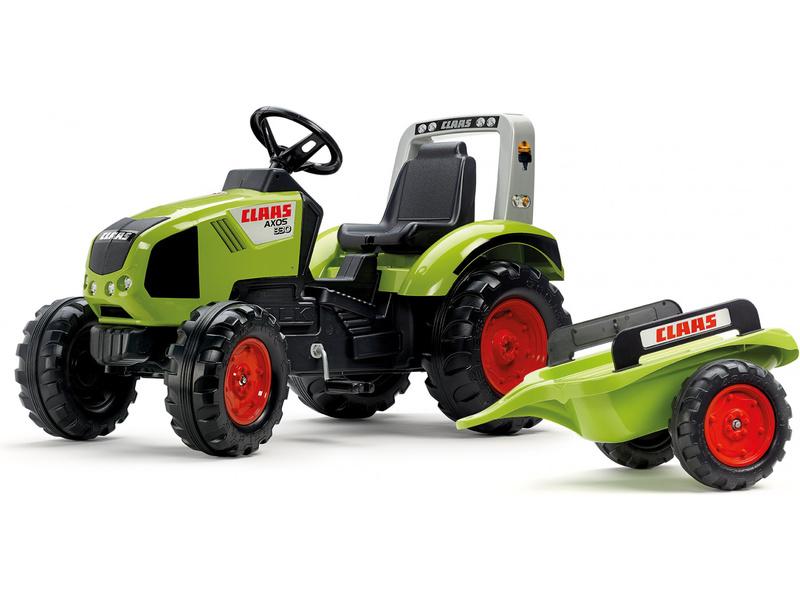 FALK - Šlapací traktor Claas Axos 330 s vlečkou