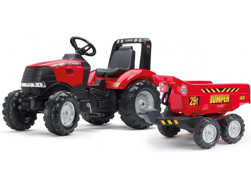 FALK - Šlapací traktor Case IH Puma 240CVX s maxi vlečkou