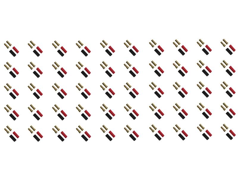 Konektor zlacený 3.5mm (50 párů)