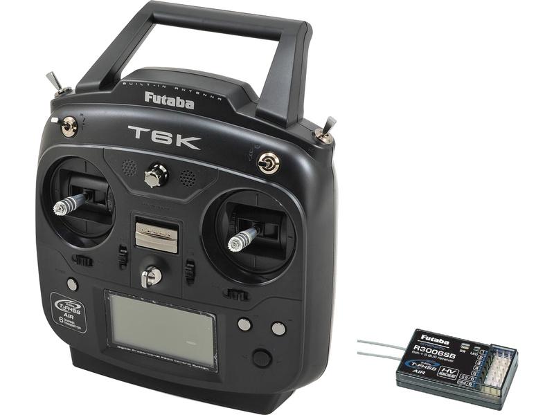 Futaba 6K 2.4GHz T-FHSS Mód 1, R3006SB