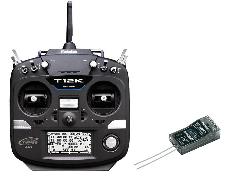 Futaba T12K 2.4GHz Mód 2, R3008SB