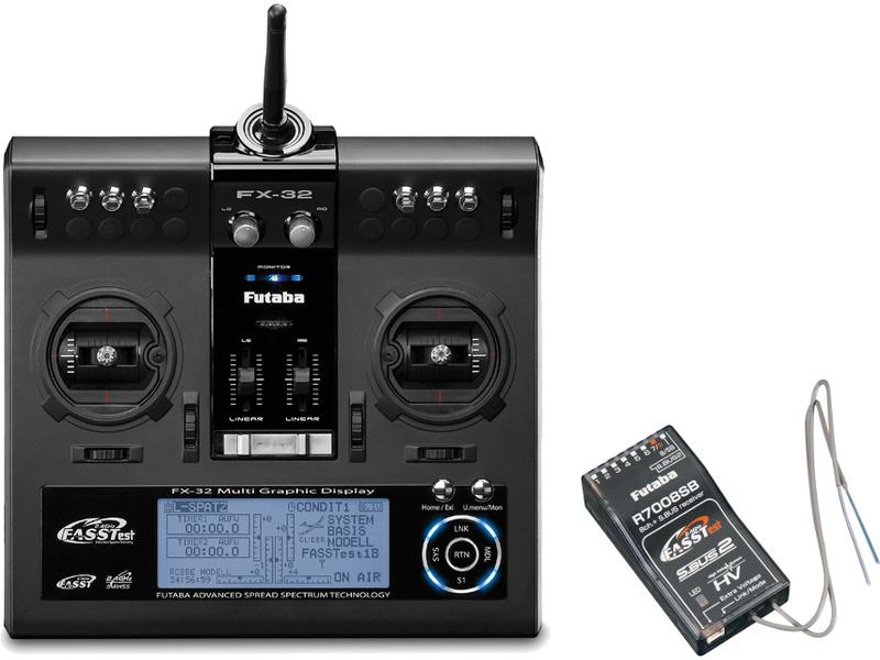 Futaba FX-32 2.4GHz, R7008SB, kufr
