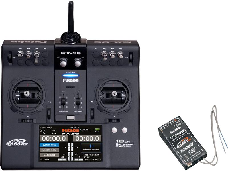 Futaba FX-36 2.4GHz Potless, R7008SB, kufr