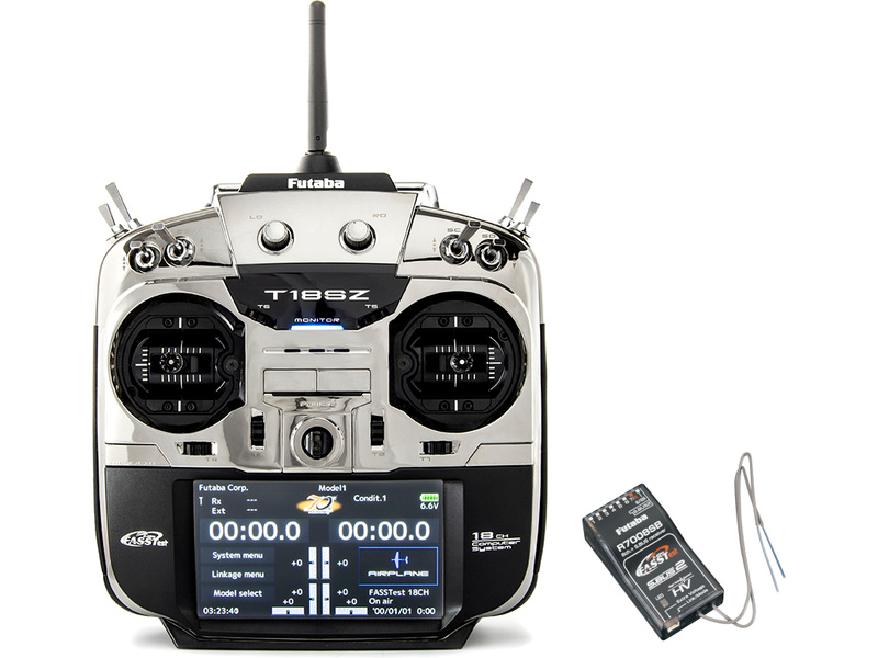 Futaba T18SZ LE 2.4GHz LiFe aku Mode 1 with R7008SB Receiver