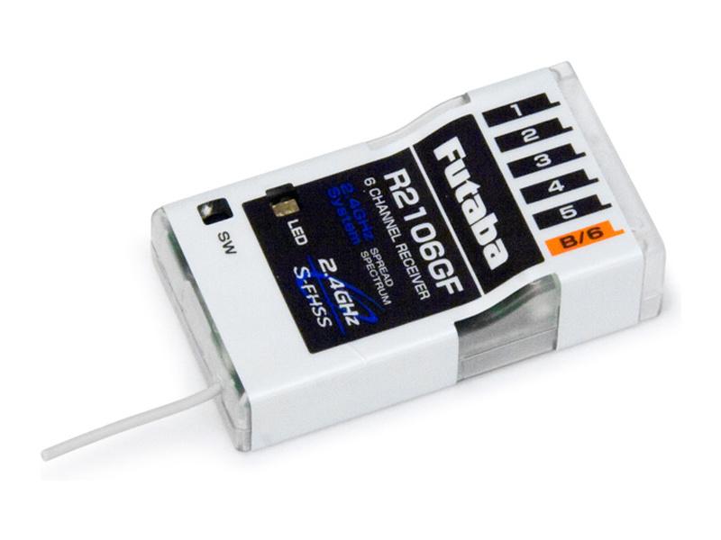 Futaba přijímač 6k R2106GF 2.4GHz S-FHSS/FHSS AR01000657