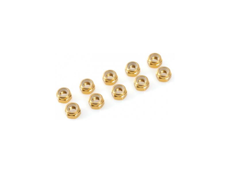 Matice samojistná M2 hliník zlatá (10)