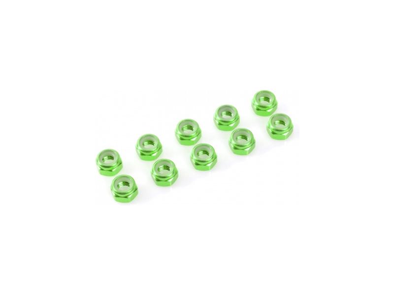 Matice samojistná M2 hliník zelená (10)