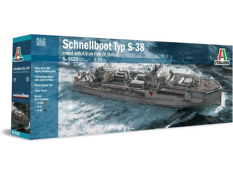 Italeri Schnellboot S-38 s kanónem Bofors (1:35)