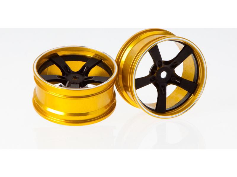 Killerbody Camaro 2011 1:10 - hliníkové disky kol černé (2) KB48079B