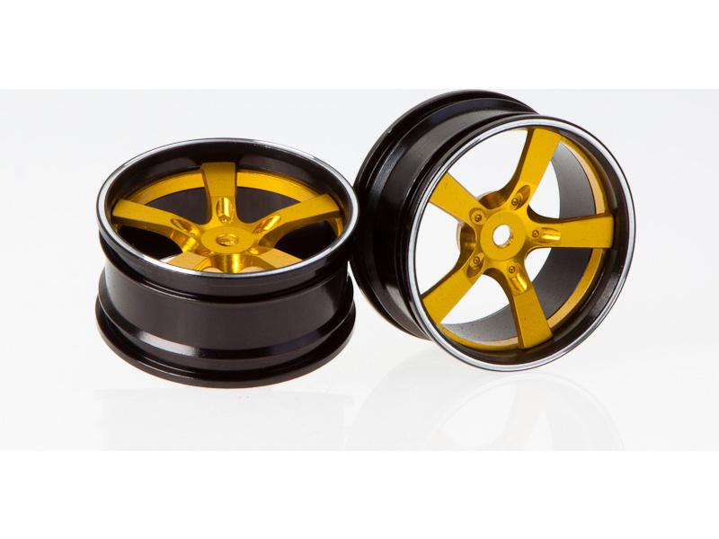 Killerbody Camaro 2011 1:10 - hliníkové disky kol zlaté (2) KB48079Y