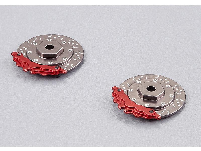 Killerbody brzdový kotouč 1:10 šedo/červený (2) KB48081GR