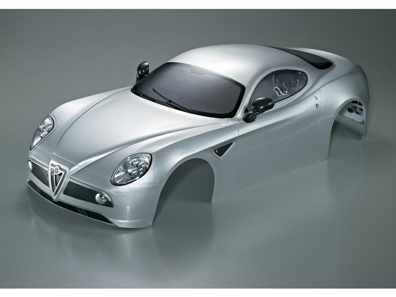 Killerbody karosérie 1:7 Alfa Romeo 8C stříbrná KB48094