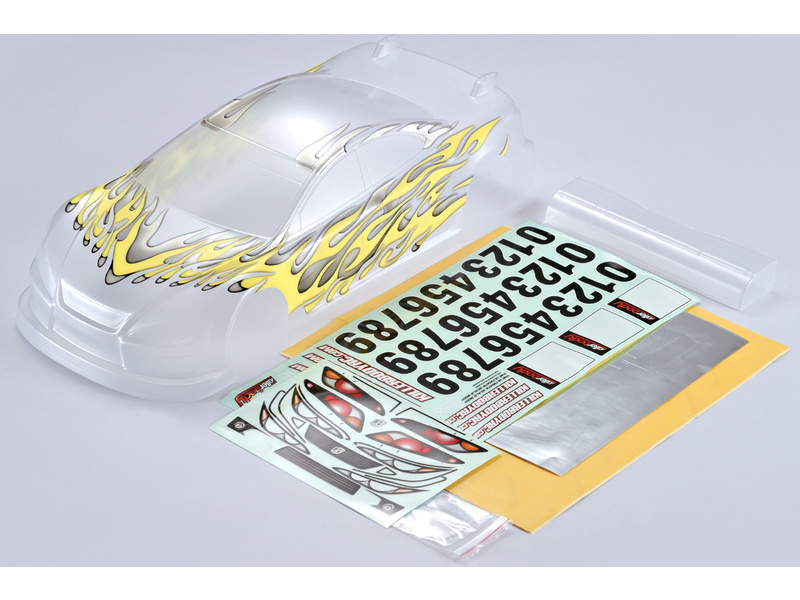 Killerbody karosérie Touring 1:10 žlutý potisk KB48106