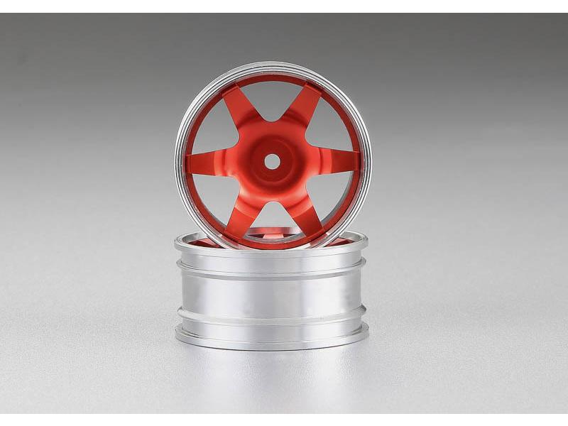 Killerbody Alfa Romeo 155 GTA 1:10 - hliníkové disky kol červené KB48479RED