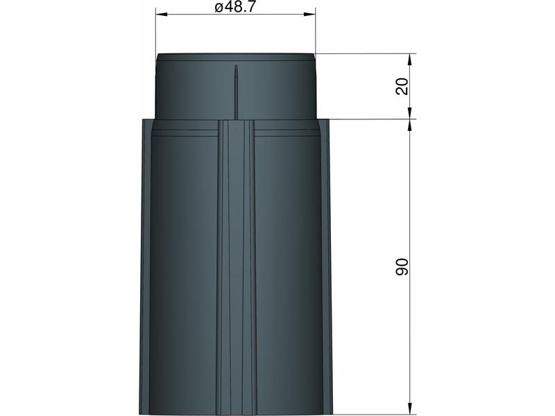 Klima základna 50 mm pro 3 stabilizátory (černá)