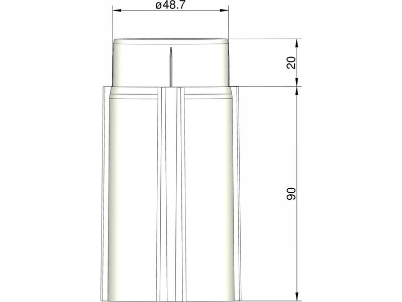 Klima základna 50 mm pro 3 stabilizátory (bílá)