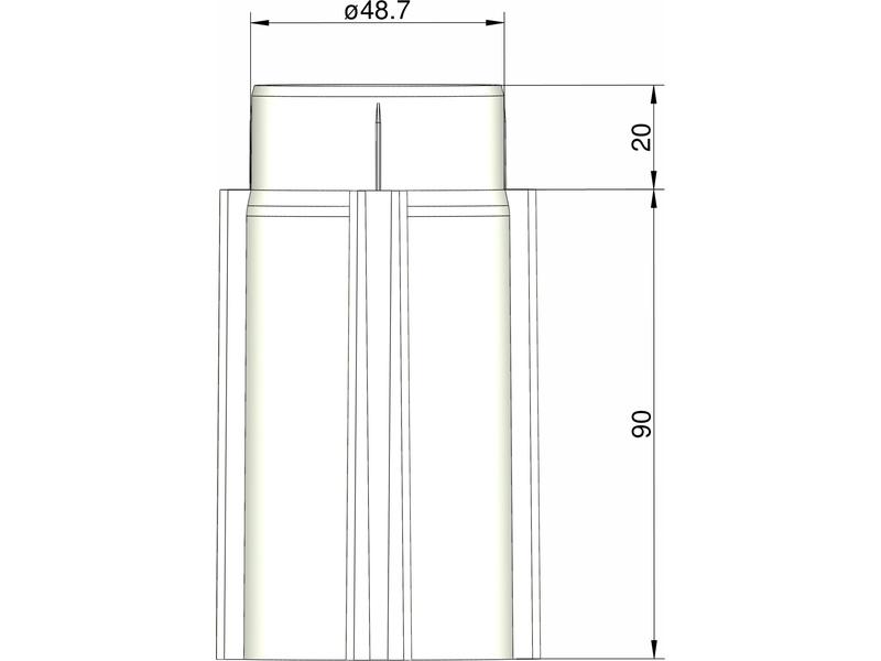 Klima základna 50 mm pro 4 stabilizátory (bílá)