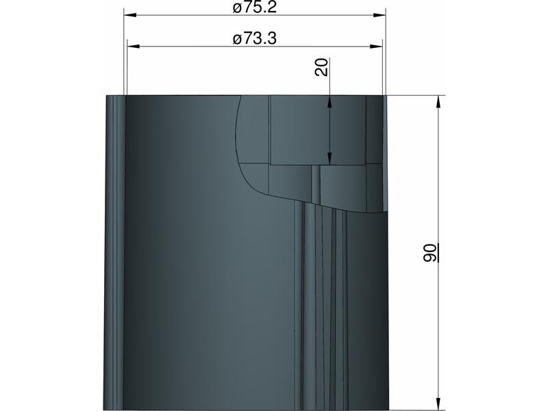 Klima základna 75 mm pro 3 stabilizátory (černá)