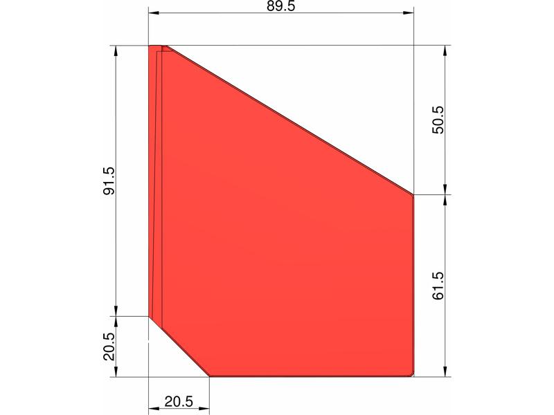 Klima stabilizátor typu šipka (červený)